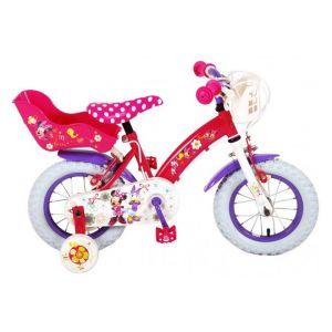 Disney Minnie Bow-Tique Kinderfahrrad - Mädchen - 12 Zoll - Pink White - 2 Handbremsen