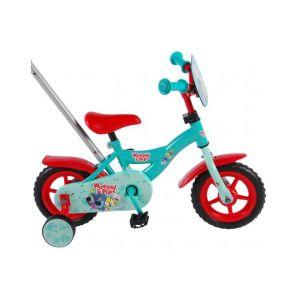 Woezel & Pip Kinderfahrrad - 10 Zoll - Blau / Rot