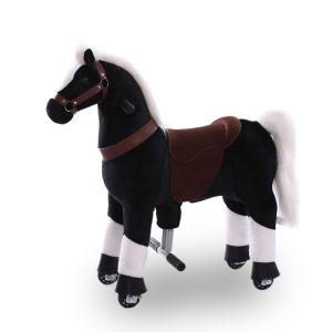 Kijana reitendes Spielzeugpferd schwarz klein