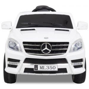 Mercedes ML350 weiße Vorderreifen Logo Seitenspiegel