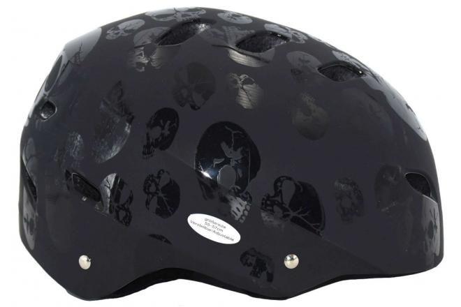 Volare Fahrrad-/Skatehelm Totenkopf 55-57 cm