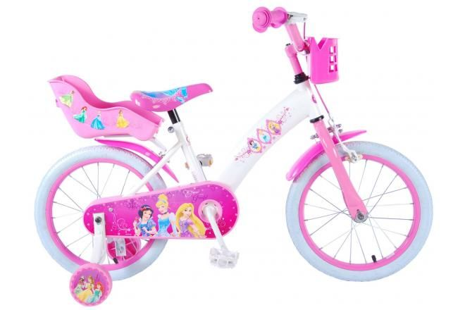 Disney Princess Kinderfahrrad - Mädchen - 16 Zoll - Pink
