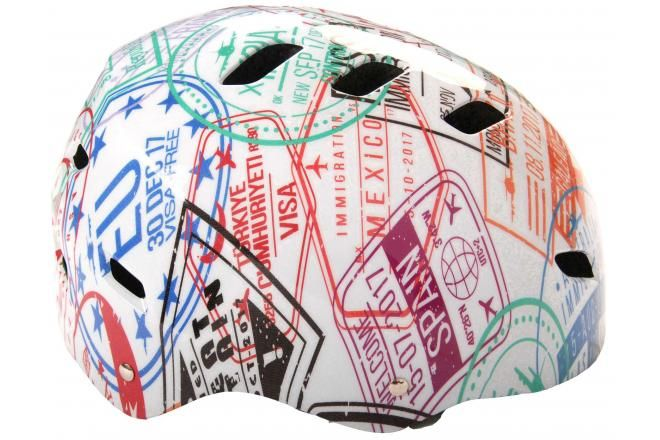 Volare Fahrrad-/Skatehelm Travel the World 55-57 cm
