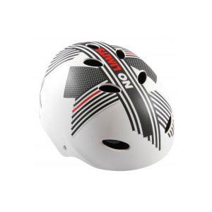 Volare Fahrradhelm - Skatehelm - No Limits - Weiß Grau Rot