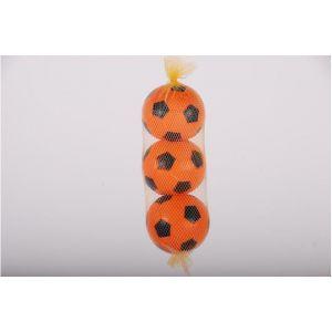 E & L Sports - Drei orangefarbene Plastikkugeln im Netz