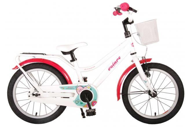 Volare Brilliant Kinderfahrrad Mädchen 16 Zoll Weiß 95% zusammengebaut