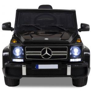 Mercedes G63 AMG Kinderauto schwarz Scheinwerfer Grill Logo