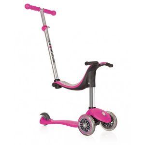 Globber Kinder Roller Go Up 4 in 1 Sportliches Pink