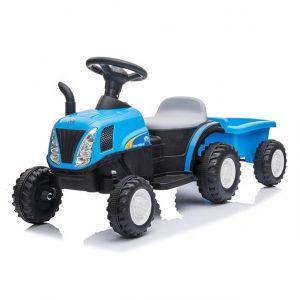Kijana Elektro Kindertraktor mit Anhänger blau