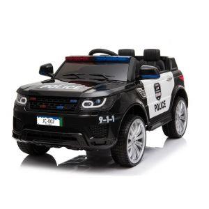 Kijana Polizei elektrisches Kinderauto Land Rover schwarz