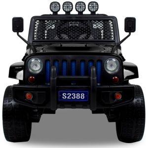 Jeep Elektro Kinderauto Monster 4x4 schwarz