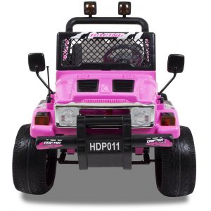 Jeep Elektro Kinderauto rosa