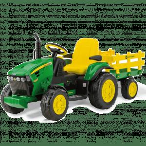 Peg Perego Kindertraktor mit Anhänger grün John Deere