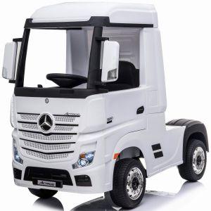 Mercedes Elektro Kinderwagen Actros weiß