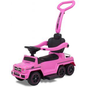 Mercedes G-Klasse Wanderwagen mit 6 rosa Rädern