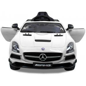 Mercedes Kinderauto AMG SLS weiß mit Videobildschirm
