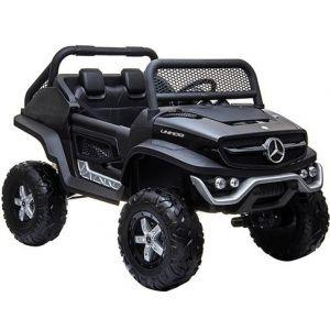 Mercedes Elektro Kinderauto Unimog Mini schwarz