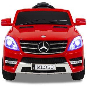 Mercedes ML350 Kinderauto rote Frontansicht Scheinwerfer Seitenspiegel