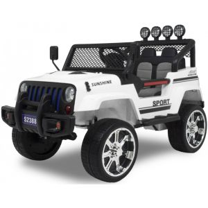 Monster Jeep 4x4 Elektro Kinderauto weiß