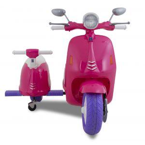 Elektrisches Vespa mit zwei Sitzen rosa