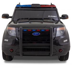 Kijana Polizei Jeep Elektro-Kinderauto Ford-Stil schwarz