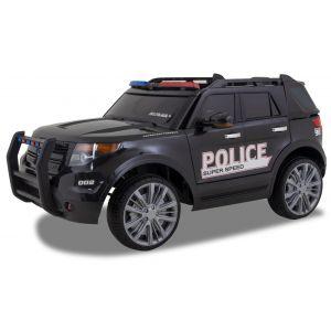 Kijana Polizei Jeep Elektro Kinderauto Ford-Stil schwarz