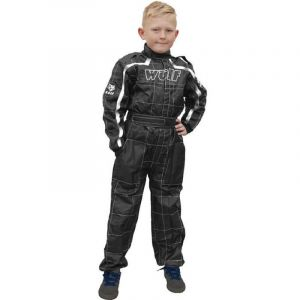 Wulfsport Junior Cub Rennanzug insgesamt - schwarz