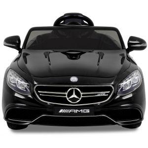 Mercedes Kinderauto S63 schwarz Frontscheinwerfer Windschutzscheibe Seitenspiegel
