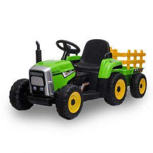 Kijana Elektro Kindertraktor mit Anhänger grün