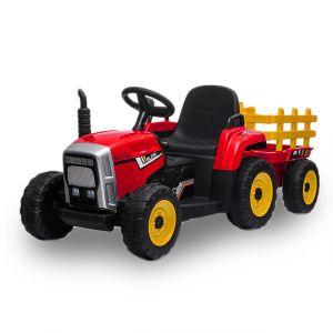 Kijana Elektro Kindertraktor mit Anhänger rot