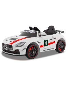 Mercedes Elektro Kinderwagen GT4 weiß