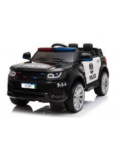 Kijana Polizei Elektro Kinderauto Land Rover schwarz