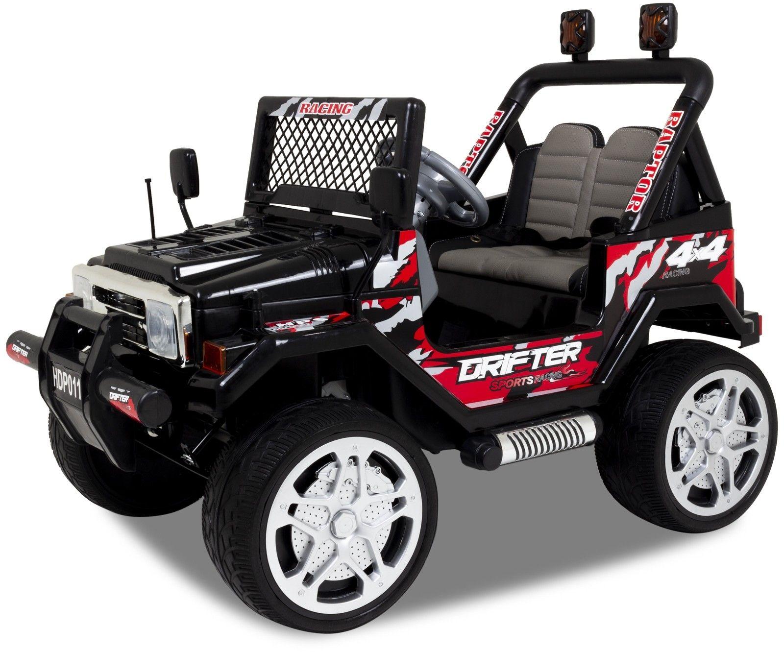 Jeep Elektro Kinderauto schwarz