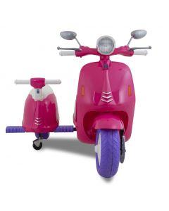 Elektro Vespa mit zwei Sitzen rosa