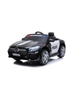 Mercedes Polizei Elektro Kinderauto SL500 schwarz